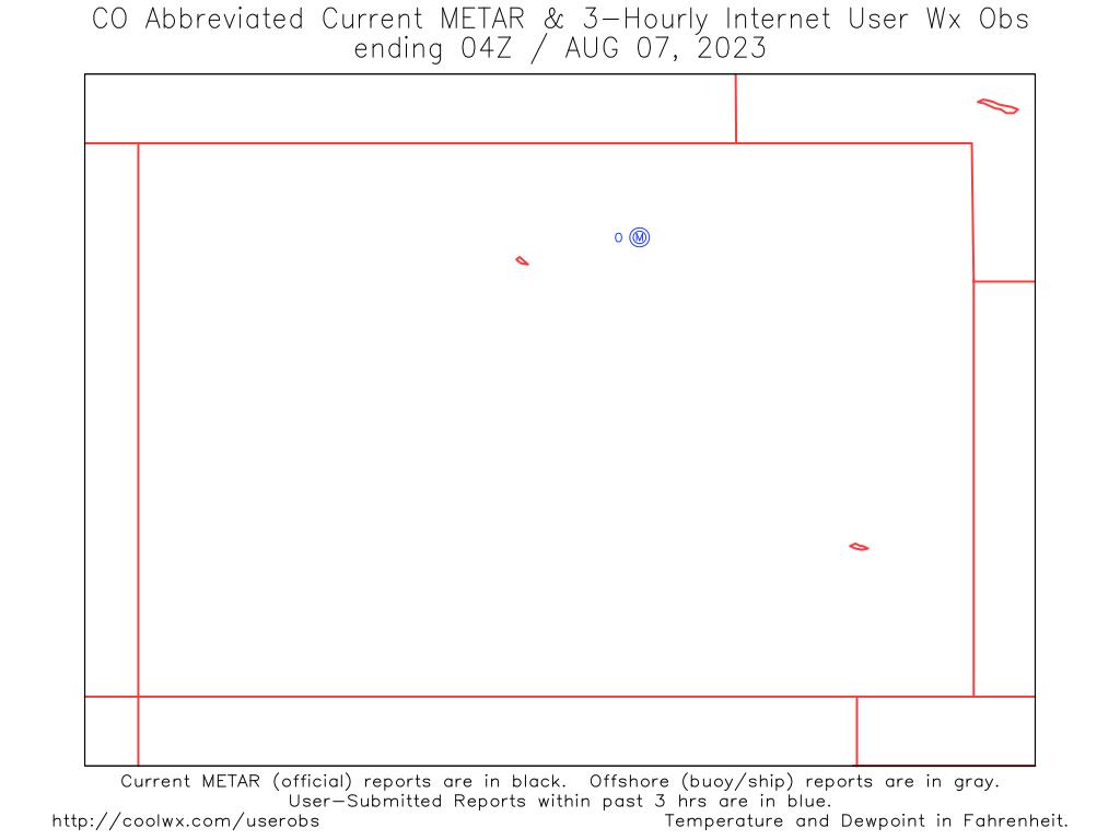 Northwest US Internet User Weather Observation Map - Northwest us weather map