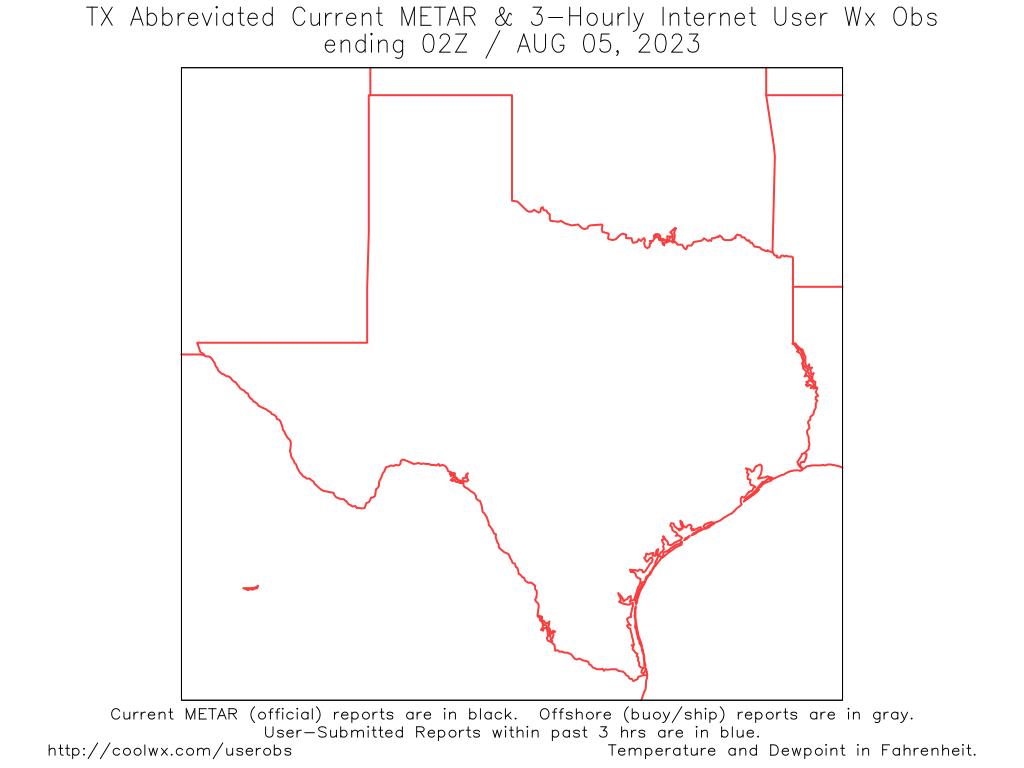 Southwest US Internet User Weather Observation Map - Map southwest us