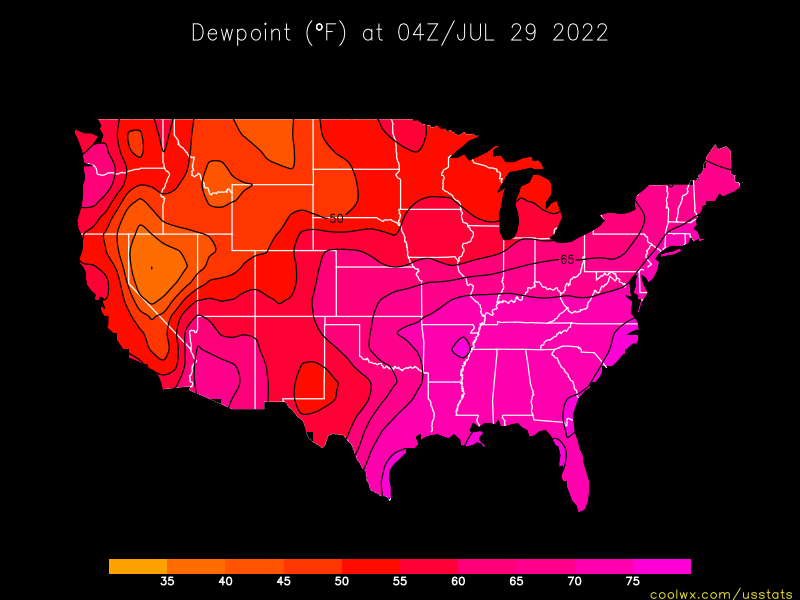 U.S. Dewpoint Statistics and Maps